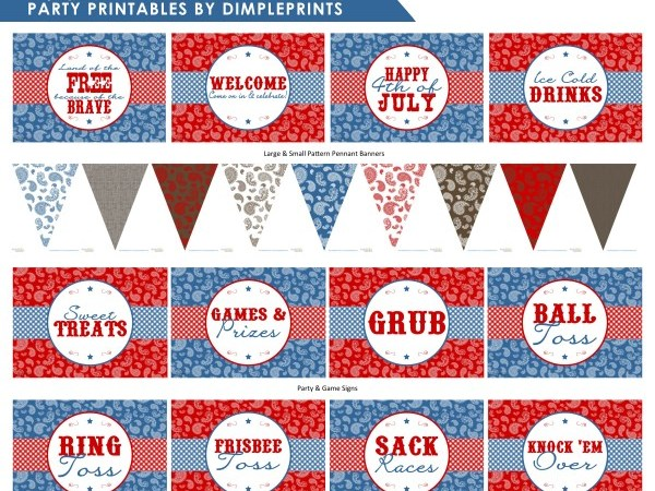 FREE Rustic BBQ Party Printables!
