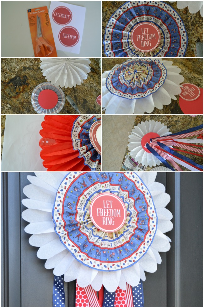 make a fabric medallion