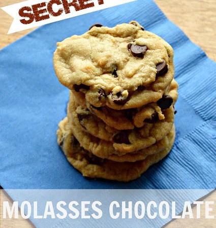 Secret Recipe — Molasses Chocolate Chip Cookies!