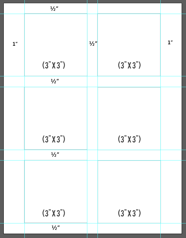 Post It Template Showing Margins Updated Good Looking