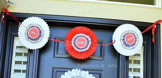 three patriotic medallions