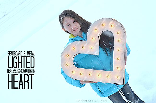 beadboard marquee heart