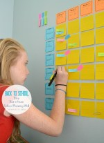 Free Printables: Easy Post-it Note School Planning Wall