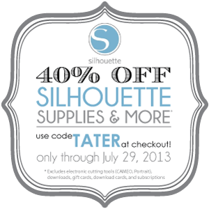 Silhouette Giveaway and 40% off Silhouette Supplies!!