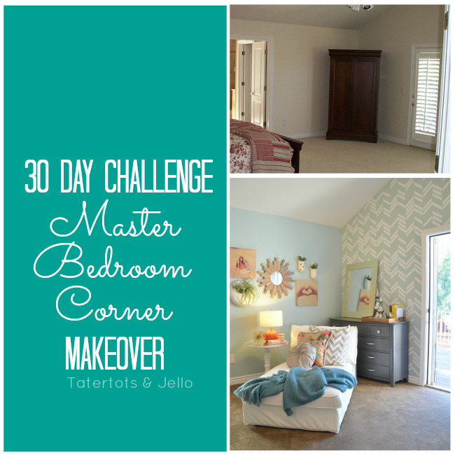 30 day challenge master bedroom corner makeover at tatertots and jello