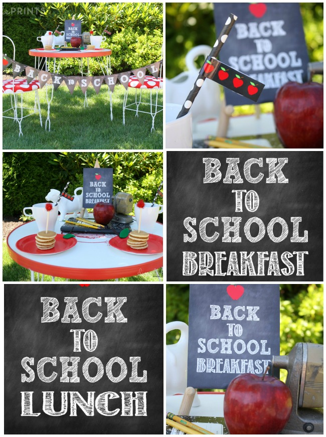 back to school chalkboard printables