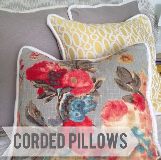how to make corded pillow covers