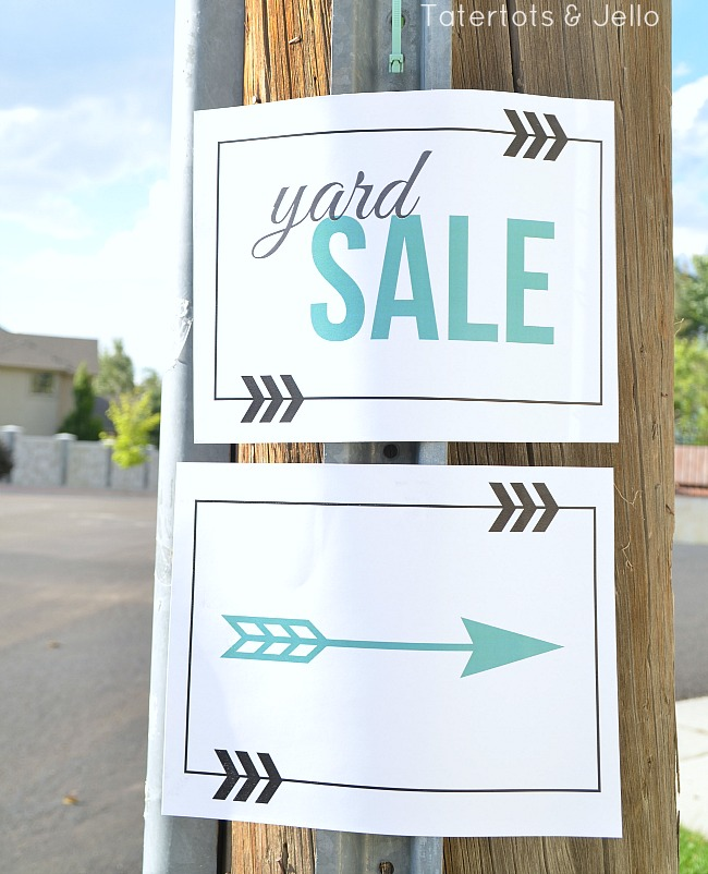 image regarding Printable Garage Sale Sign identify No cost Backyard garden Sale Signal Printables at Tatertots and Jello