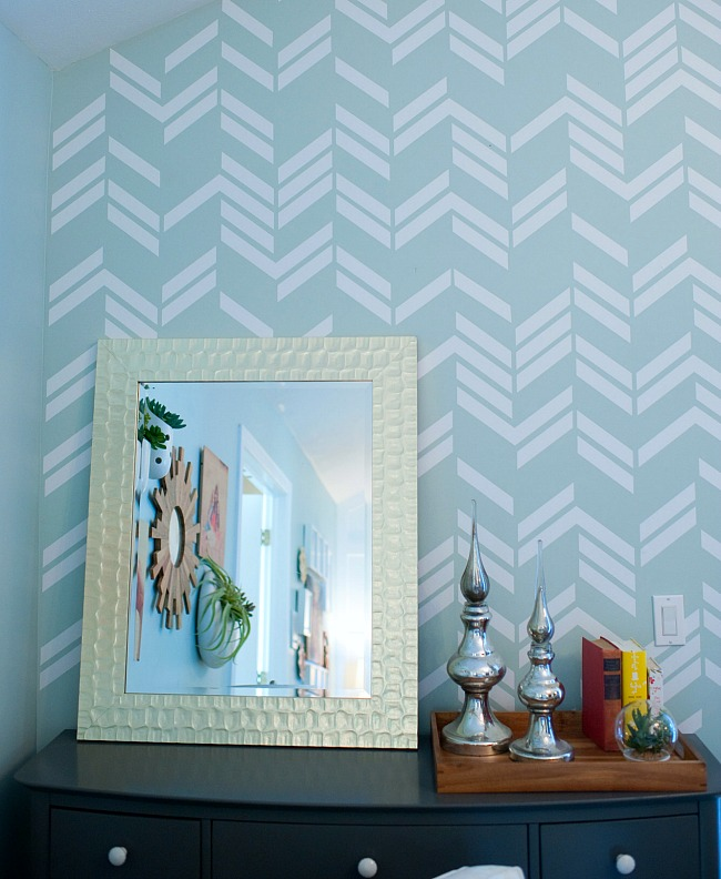 Trend herringbone wall decals