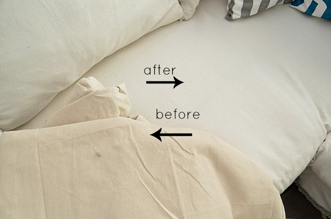 before and after dropcloth colors