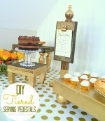 DIY Wooden Dessert Pedestals for Fall Entertaining!