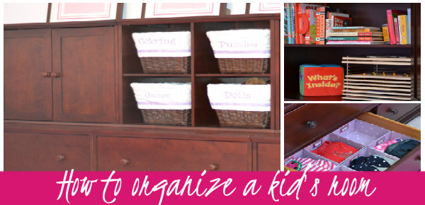 how to organize a kids room
