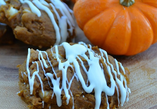 Easy Cookie Recipe – 3 Ingredient Pumpkin White Chocolate Cookies!