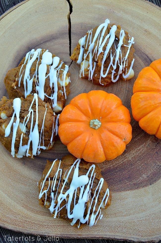 three ingredient pumpkin chocolate cookies