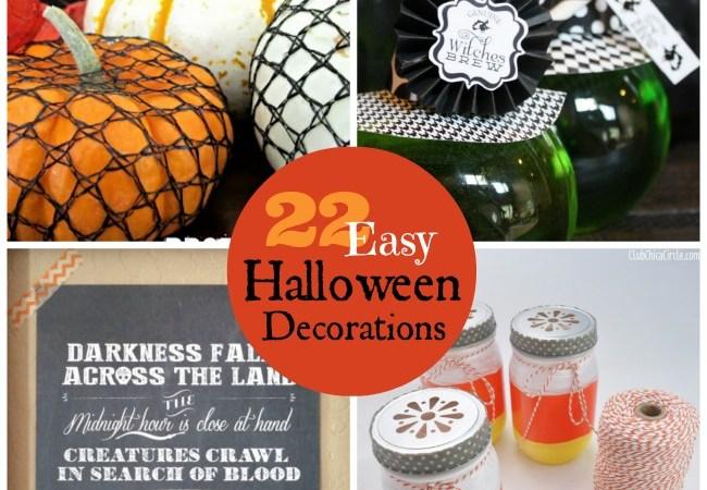 Great Ideas — 22 Easy Halloween Decorations!