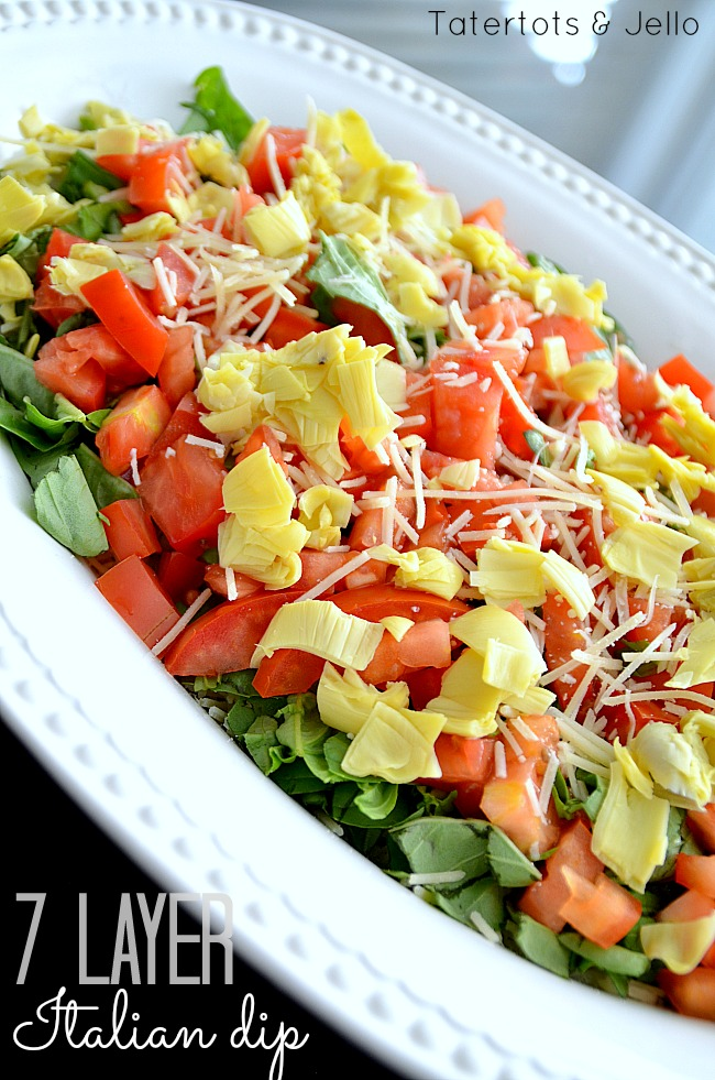 7 layer italian dip recipe at tatertots and jello