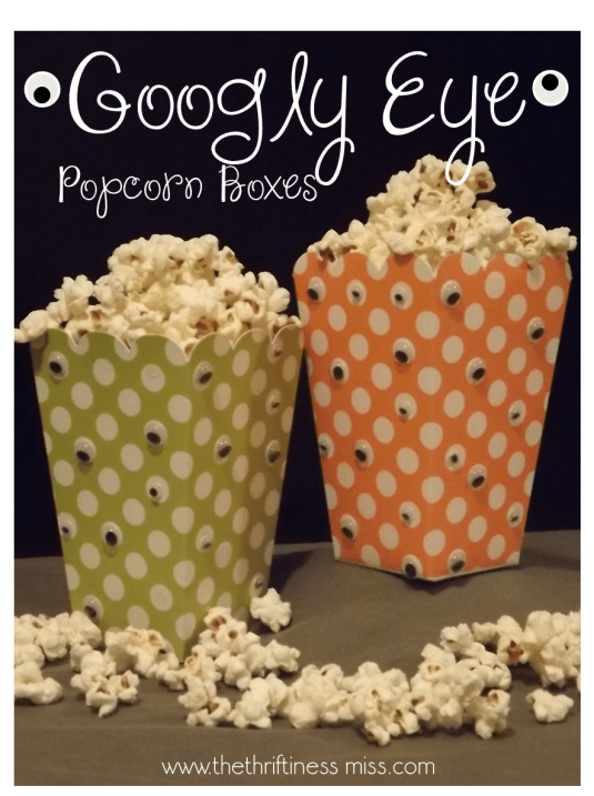 DIY Googly Eye Popcorn Boxes HalloweenCarfts
