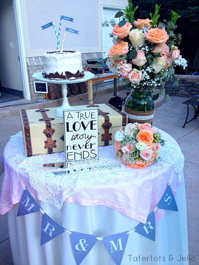 free mr & mrs wedding banner printable