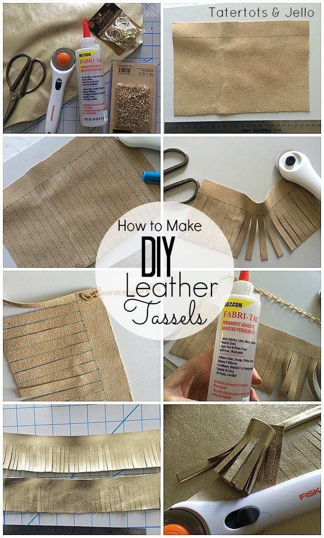 how to make leather tassels