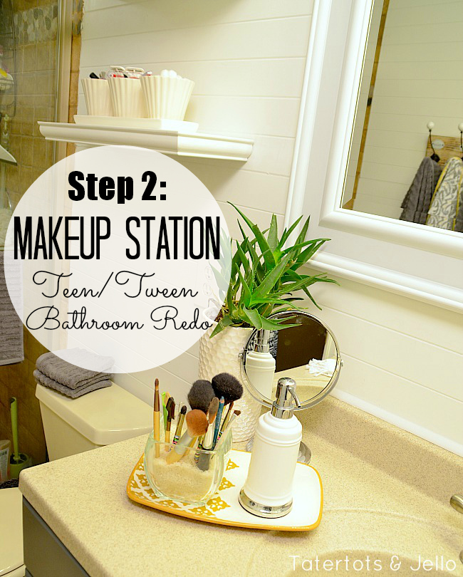 makeup station bathrrom redo