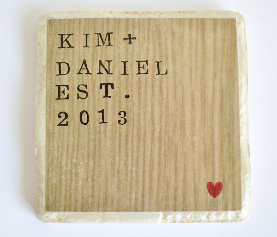 wood wedding date plaque