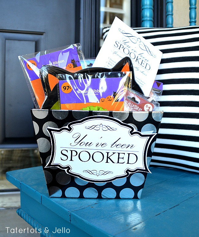 you've been spooked haloween gift basket