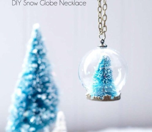 HAPPY Holidays: DIY Snow Globe Necklace!