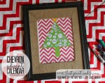 Happy Holidays: Chevron Advent Calendar