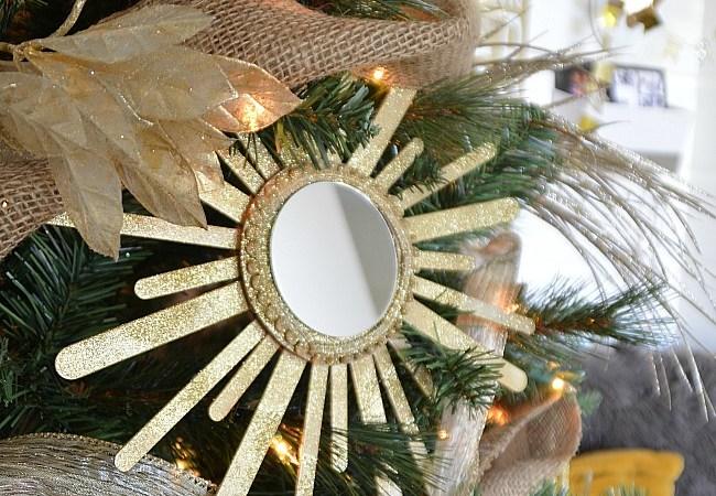 Sunburst Mirror Ornament DIY Tutorial