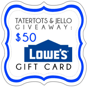 Link Party Palooza — and $50 Lowe's Giveaway!