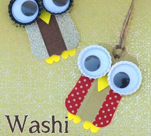 Happy Holidays: Washi Tape Owl Ornaments