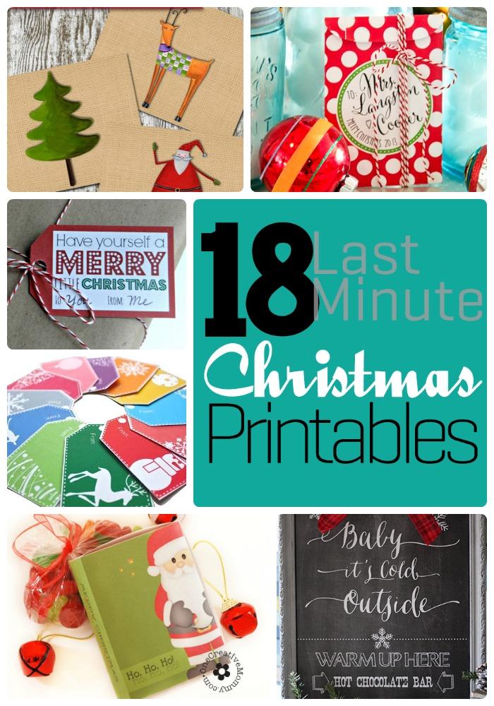 18 christmas printables