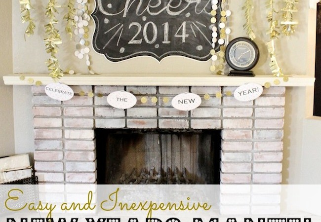 Happy Holidays: Easy and Inexpensive New Years Mantel