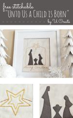 Happy Holidays: Unto Us A Child Is Born Stitchable