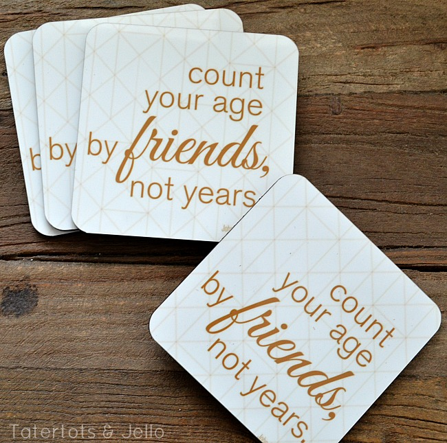 friends quotes coasters