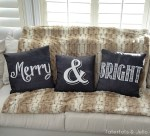 Merry & Bright Pillows! (Free Printables!) #ShutterflyDecor