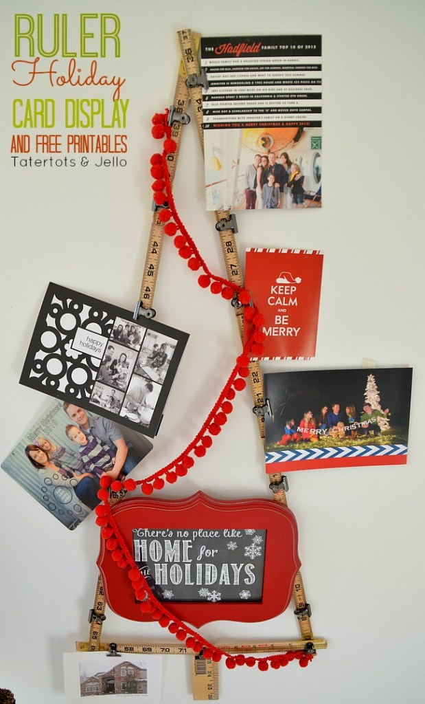 ruler holiday card display and printable at tatertots and jello