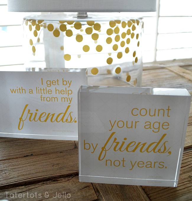 shuterfly acrylic block gift idea and free printables