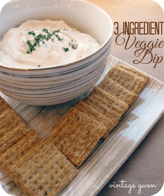 New Years Eve 3 ingredient veggie dip