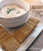 Happy Holidays: Three Ingredient Veggie Dip
