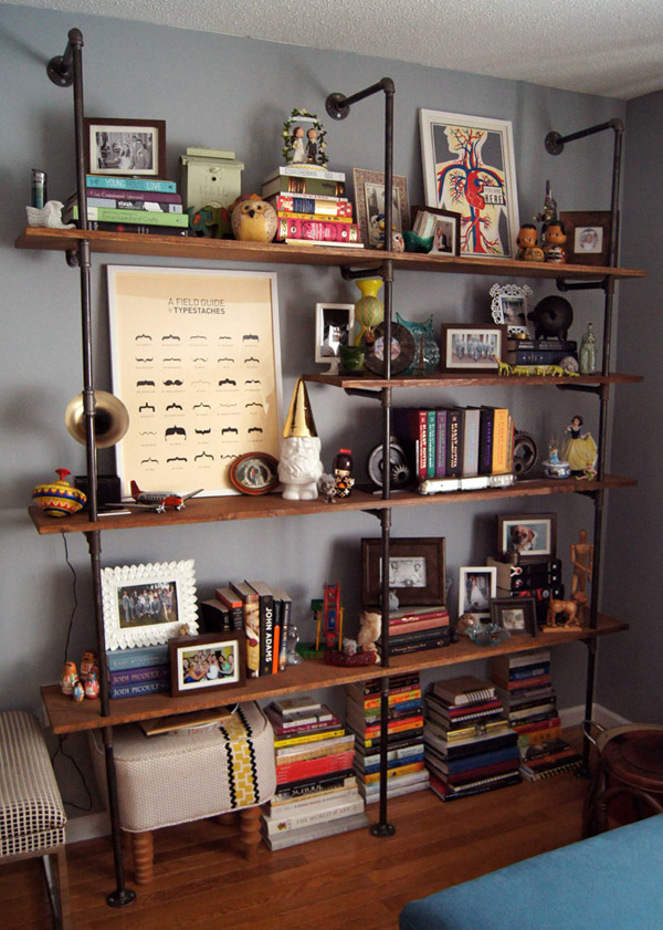 14 Ways to Get Organized with DIY Industrial Shelving ...