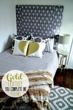 "Gold Leather ""You Complete Me"" Valentine Pillows! DIY"