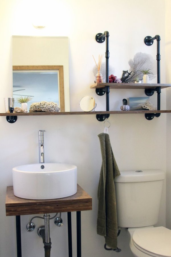 industrial bathroom storage