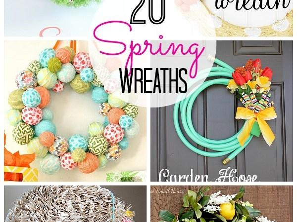 20 DIY Spring Wreaths!