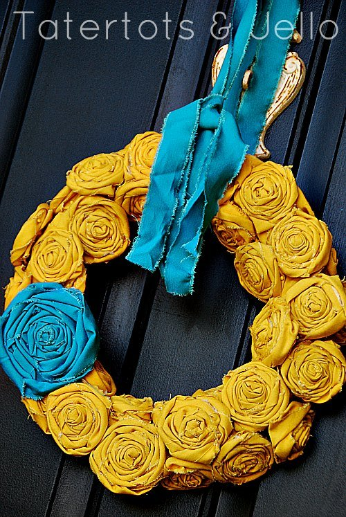 How to make a felt flower hoop saying wreath