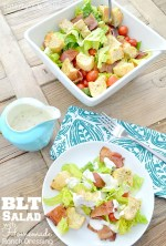Family Favorite: BLT Salad with Homemade Ranch Dressing!