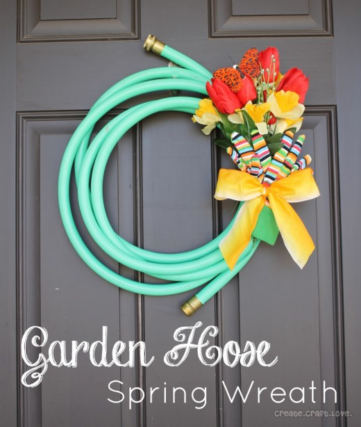 garden hose wreath