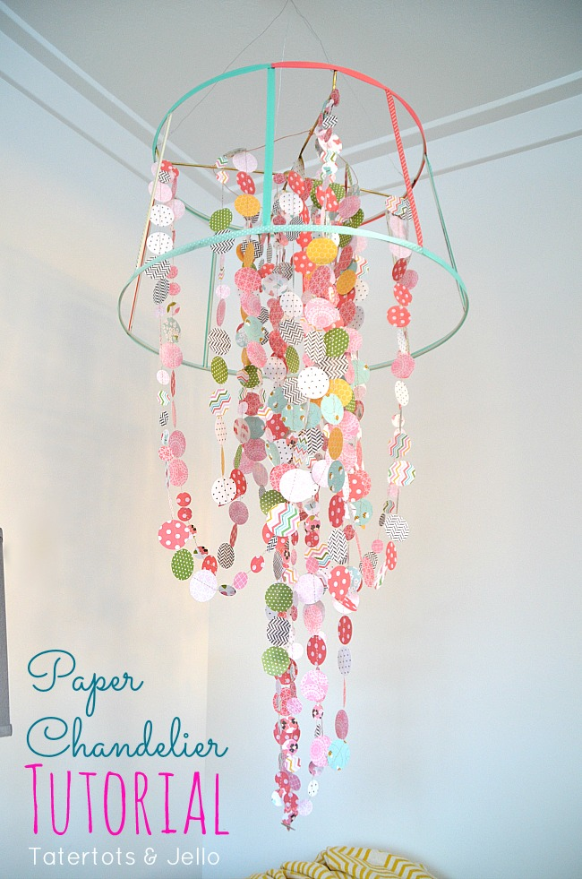 paper chandelier tutorial at tatertots and jello