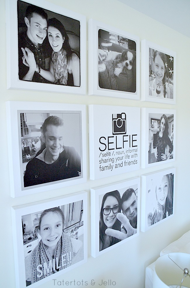 selife wall and free printable
