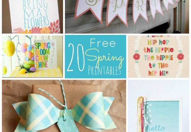 20 Free Spring Printables!!